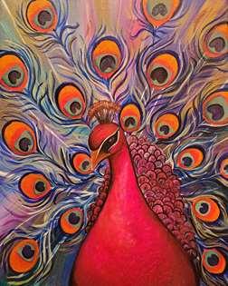 Rose Gold Peacock