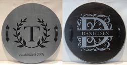 Round Wooden DIY Monogram Tray