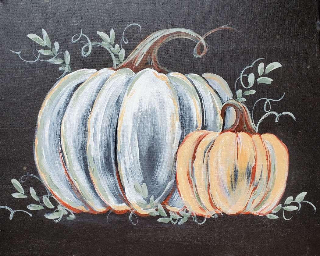 Rustic Chalkboard Pumpkins