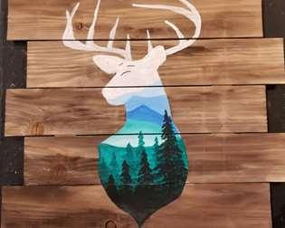 Rustic Deer Silhouette