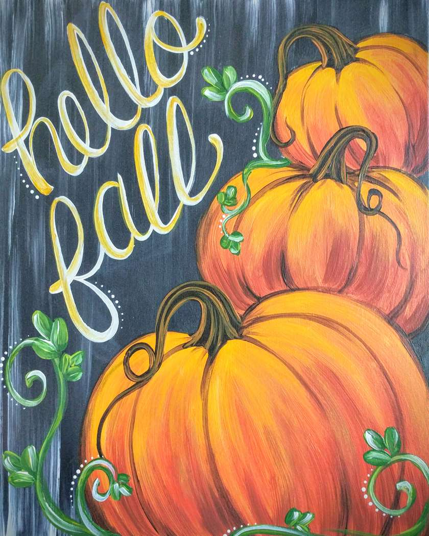 Rustic Fall Pumpkins - In Studio Event - Limited Seating Available