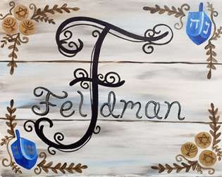 Rustic Family Name, Hanukkah Edition!