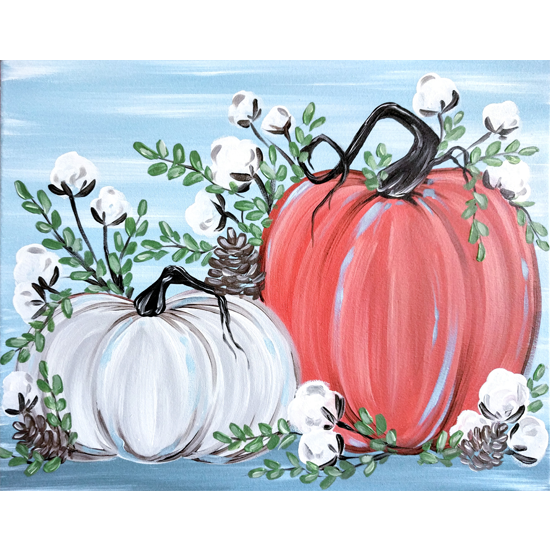 Rustic Pumpkins and Cotton - In Studio Event - Limited Seating Available