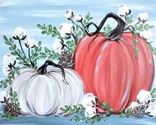 Rustic Pumpkins and Cotton