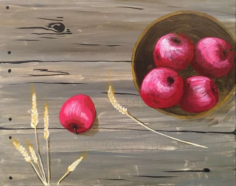 Rustic Red Apples