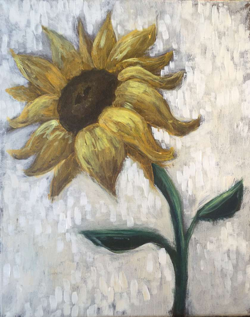 Rustic Sunflower - In Studio - Limited Seating Available