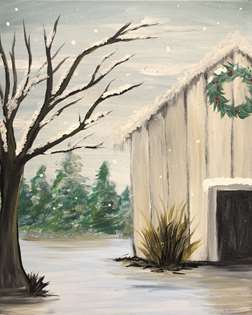 Rustic Winter Barn