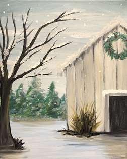 Rustic Winter Barn