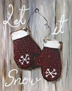 Rustic Winter Mittens