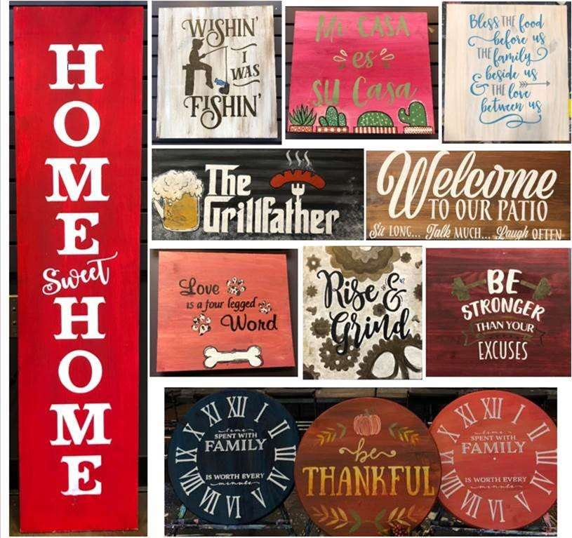 Rustic Wood Sign Work Shop
