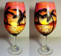 Sangria Sunset Wine Glass Class