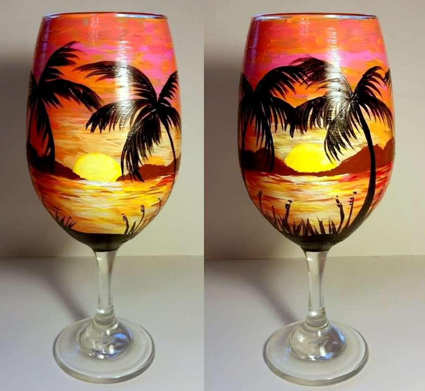Sangria Sunset Wine Glass Class