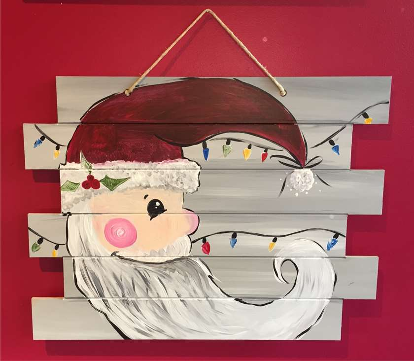 Santa on a Wooden Pallet