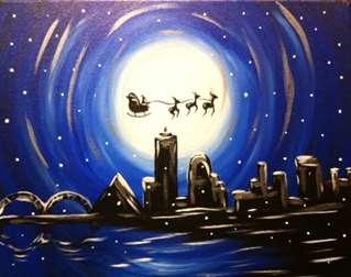 Santa Over Memphis