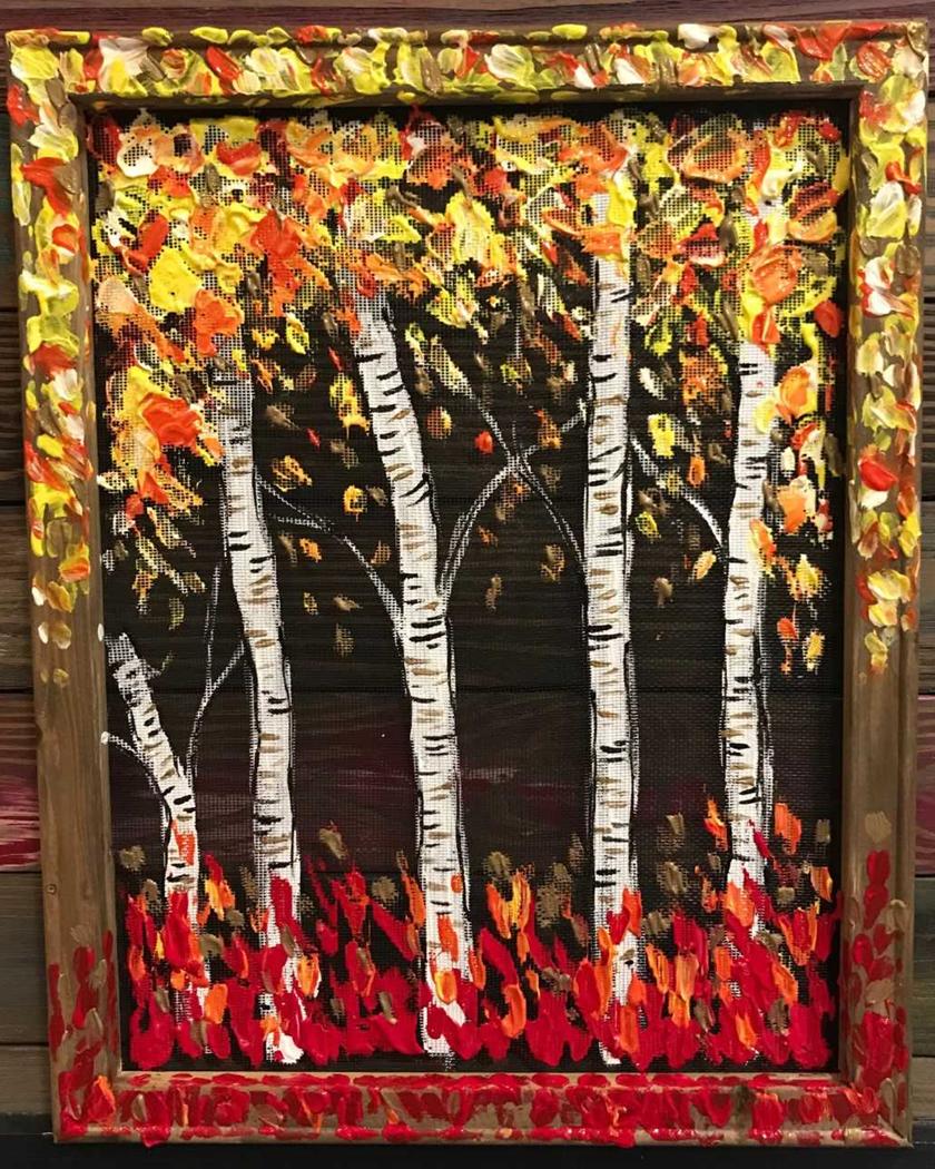 Screen Art - Bountiful Birches