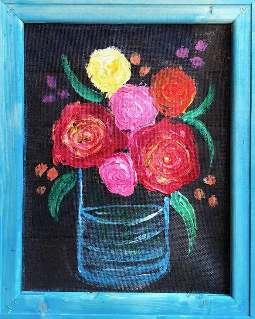Screen Art - Rustic Flowers