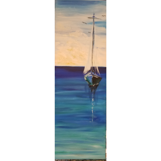 Lovely - on a 10X30 canvas