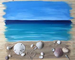 Seashells by the Seashore - Wooden Pallet
