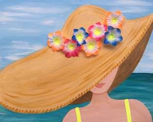 Seaside Sun Hat 3-D