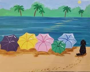 Seaside Umbrellas