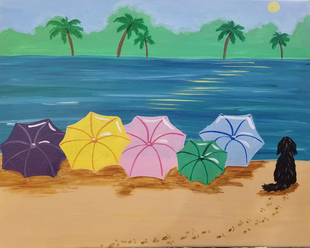 Paint Your Own Beach Bag