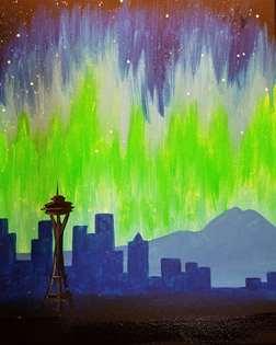 Seattle Night Sky