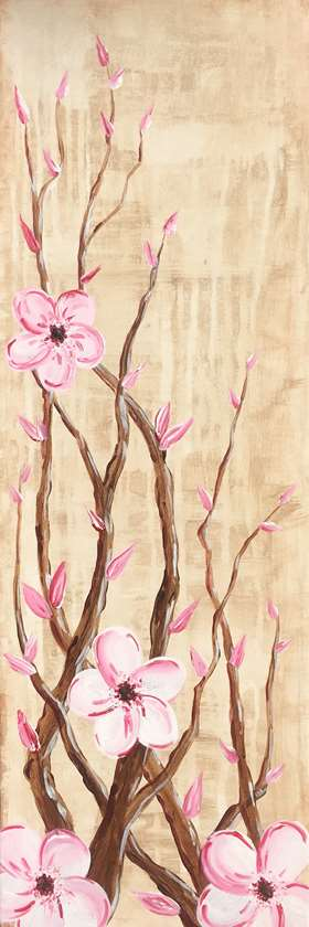 Sepia Cherry Blossoms
