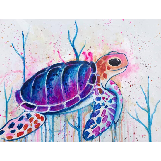"""""""Serene Sea Turtle"""" Great for all ages!"""
