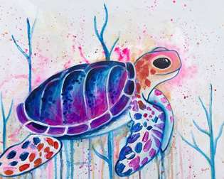 Serene Sea Turtle