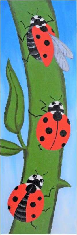 Seven Spotted LadyBugs