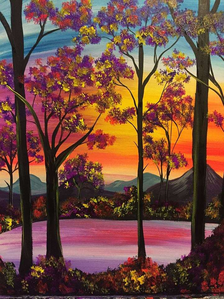 Shimmering Sunset - In Studio Event - Limited Seating Available