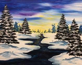 Shimmering Winter River