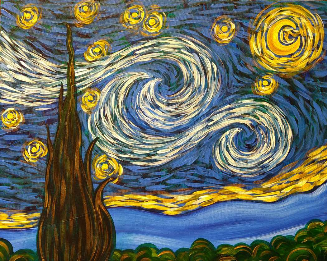 SIMPLY A STARRY NIGHT - CHOOSE YOUR CANVAS SIZE