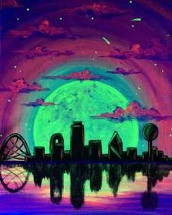 Dallas Skyline Aglow