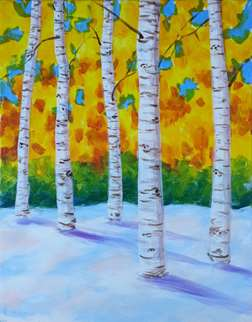 Snow Birches