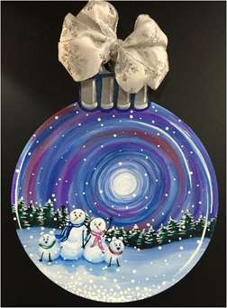 Snow Family Snow Globe - Ornament