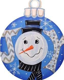 Snowman Door Hanger Ornament
