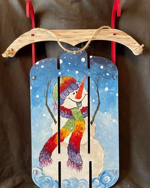 Snowman Sled Build and Paint