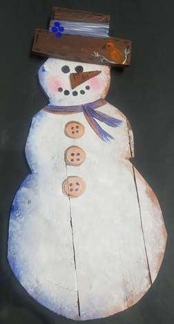 Snowman Wood Cutout