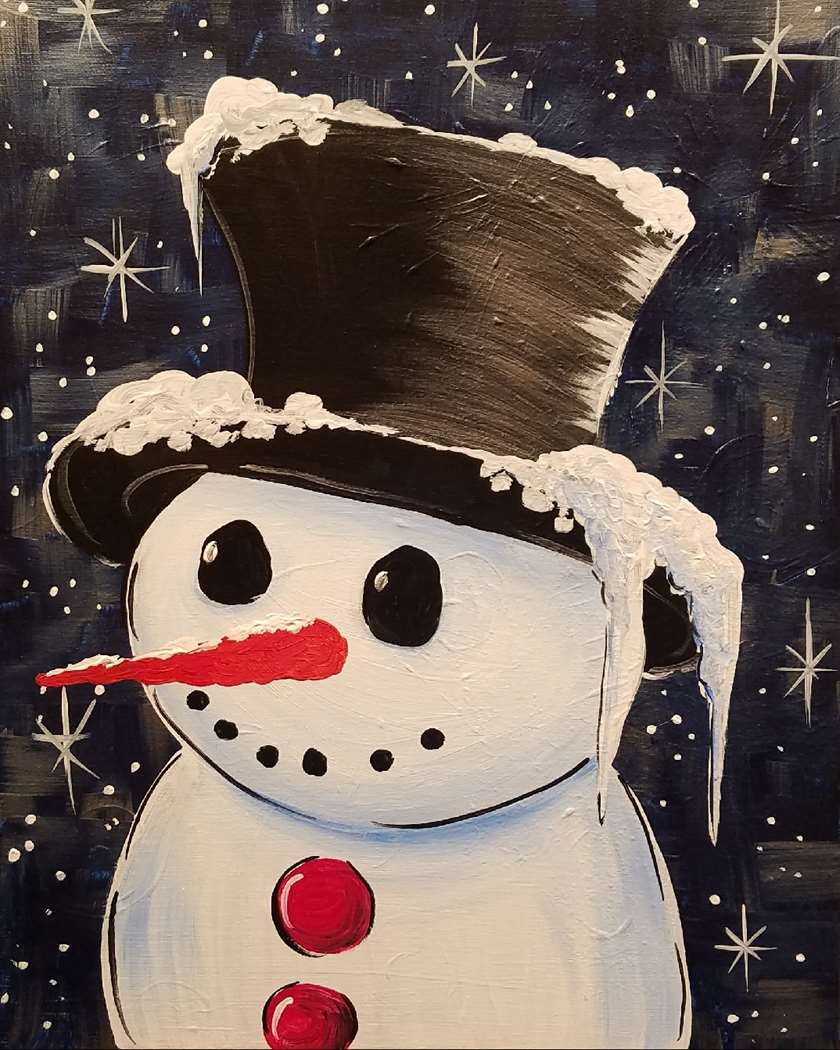 snowy gentleman 8x10