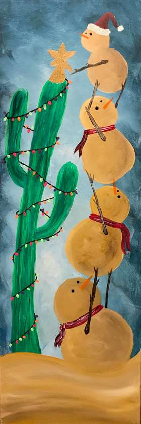 """Christmas in JULY!! 10""""x30"""" canvas"""