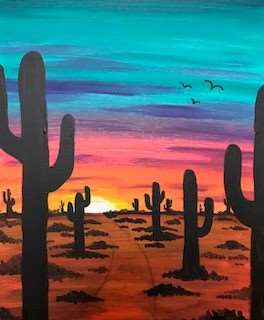 Southwest Sunset - In Studio - Limited Seating