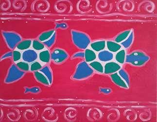 Sparkling Sea Turtles