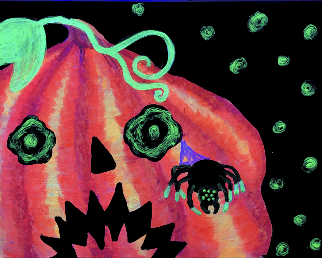 Spooky Blacklight Family Painting Party!