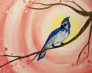 Spring Blue jay