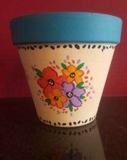 Spring Floral Flower Pot
