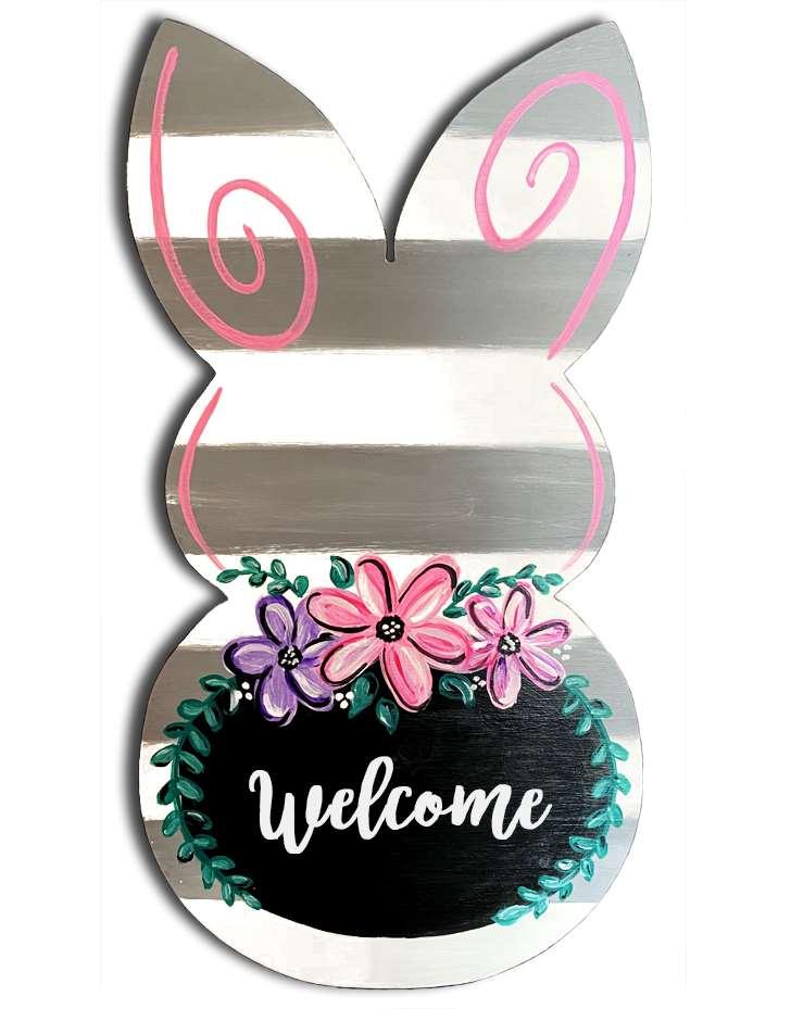 Spring Flower Bunny Cutout