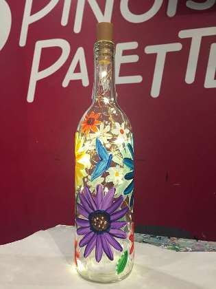 Spring Wine Bottle Painting