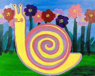 Springtime Snail