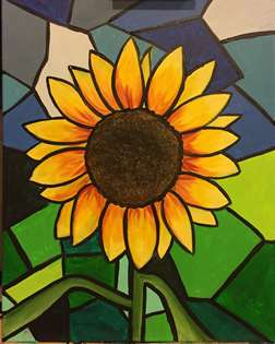 Stained Glass Sunflower